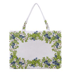 Birthday Card Flowers Daisies Ivy Medium Tote Bag by Nexatart