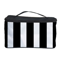 Black White Line Vertical Cosmetic Storage Case by Mariart