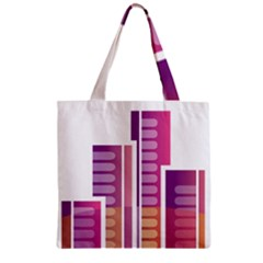 Building Zipper Grocery Tote Bag by Mariart
