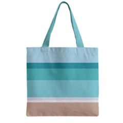 Dachis Beach Line Blue Water Grocery Tote Bag by Mariart