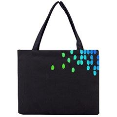 Green Black Widescreen Mini Tote Bag by Mariart