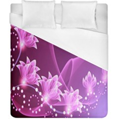 Lotus Sunflower Sakura Flower Floral Pink Purple Polka Leaf Polkadot Waves Wave Chevron Duvet Cover (california King Size) by Mariart