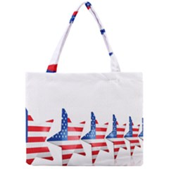 Multiple Us Flag Stars Line Slide Mini Tote Bag by Mariart