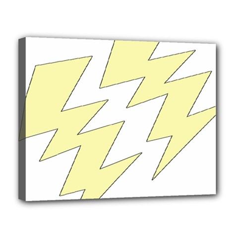 Lightning Yellow Canvas 14  X 11  by Mariart