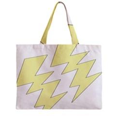 Lightning Yellow Zipper Mini Tote Bag by Mariart