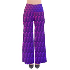 Hexagon Widescreen Purple Pink Pants by Mariart