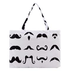 Mustache Man Black Hair Style Medium Tote Bag by Mariart