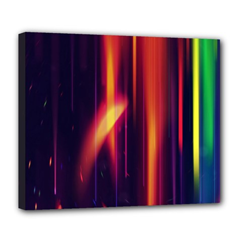 Perfection Graphic Colorful Lines Deluxe Canvas 24  X 20   by Mariart