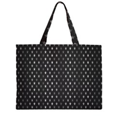 Rabstol Net Black White Space Light Zipper Large Tote Bag by Mariart