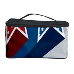 Star Red Blue White Line Space Cosmetic Storage Case by Mariart