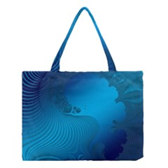 Fractals Lines Wave Pattern Medium Tote Bag by Nexatart