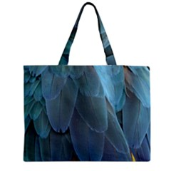 Feather Plumage Blue Parrot Medium Tote Bag by Nexatart