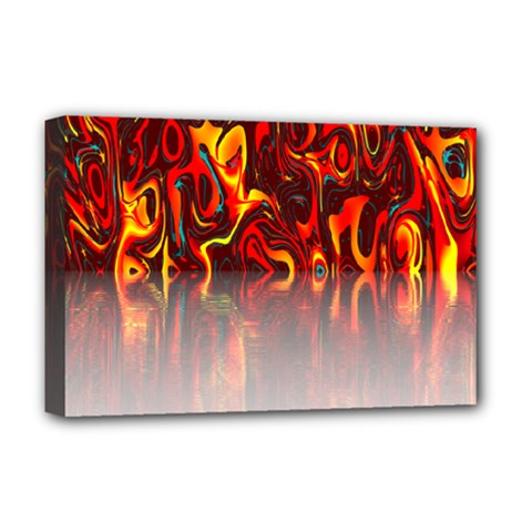 Effect Pattern Brush Red Orange Deluxe Canvas 18  X 12   by Nexatart