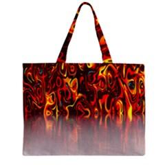 Effect Pattern Brush Red Orange Zipper Mini Tote Bag by Nexatart