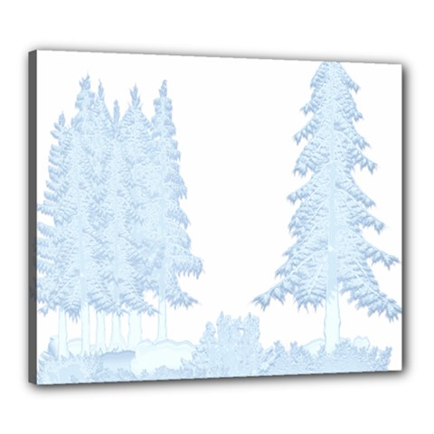 Winter Snow Trees Forest Canvas 24  X 20  by Nexatart