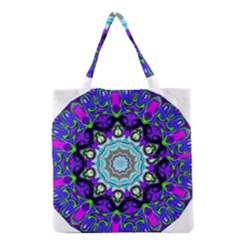 Graphic Isolated Mandela Colorful Grocery Tote Bag by Nexatart