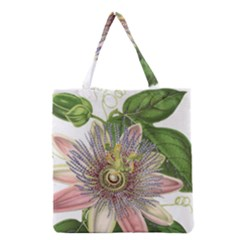 Passion Flower Flower Plant Blossom Grocery Tote Bag by Nexatart