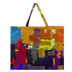 Abstract Vibrant Colour Zipper Large Tote Bag by Nexatart