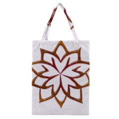 Abstract Shape Outline Floral Gold Classic Tote Bag by Nexatart