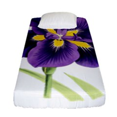 Lily Flower Plant Blossom Bloom Fitted Sheet (single Size)
