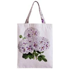 Flower Plant Blossom Bloom Vintage Zipper Classic Tote Bag by Nexatart