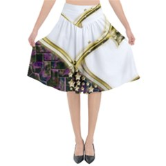 Lover Romantic Couple Apart Flared Midi Skirt by Nexatart