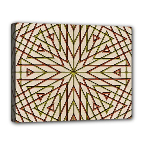 Kaleidoscope Online Triangle Canvas 14  X 11  by Nexatart