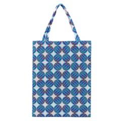 Geometric Dots Pattern Rainbow Classic Tote Bag by Nexatart