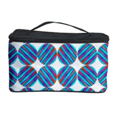 Geometric Dots Pattern Rainbow Cosmetic Storage Case by Nexatart