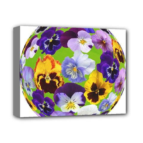Spring Pansy Blossom Bloom Plant Deluxe Canvas 14  X 11  by Nexatart