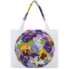Spring Pansy Blossom Bloom Plant Mini Tote Bag by Nexatart