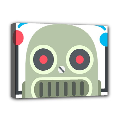 Robot Deluxe Canvas 16  X 12   by BestEmojis