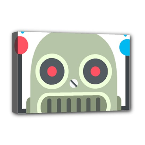 Robot Deluxe Canvas 18  X 12   by BestEmojis