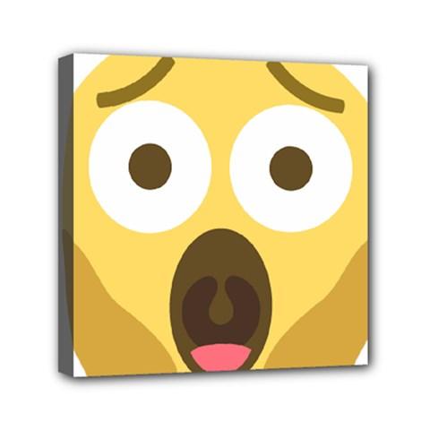 Scream Emoji Mini Canvas 6  X 6  by BestEmojis
