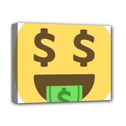 Money Face Emoji Deluxe Canvas 14  X 11  by BestEmojis