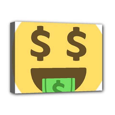Money Face Emoji Deluxe Canvas 16  X 12   by BestEmojis