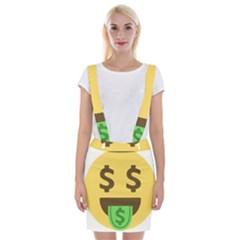 Money Face Emoji Braces Suspender Skirt by BestEmojis
