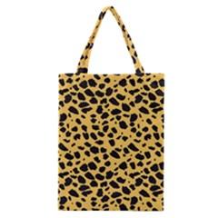 Skin Animals Cheetah Dalmation Black Yellow Classic Tote Bag by Mariart