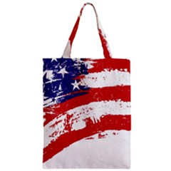 Red White Blue Star Flag Zipper Classic Tote Bag by Mariart