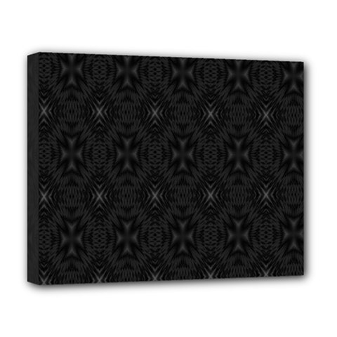 Star Black Deluxe Canvas 20  X 16   by Mariart