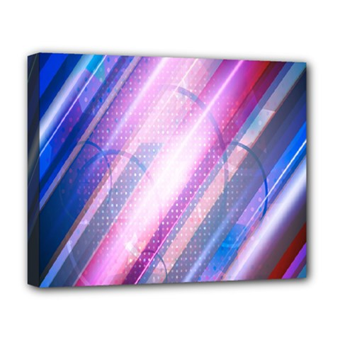 Widescreen Polka Star Space Polkadot Line Light Chevron Waves Circle Deluxe Canvas 20  X 16   by Mariart