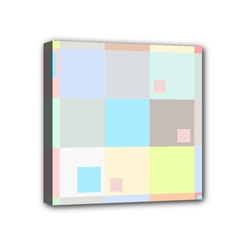 Pastel Diamonds Background Mini Canvas 4  X 4  by Nexatart