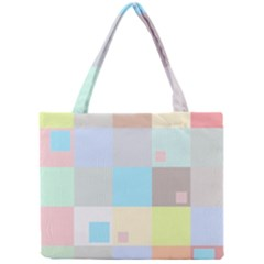 Pastel Diamonds Background Mini Tote Bag by Nexatart