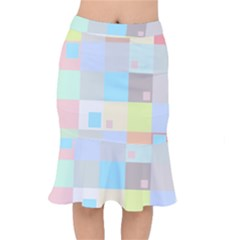 Pastel Diamonds Background Mermaid Skirt by Nexatart