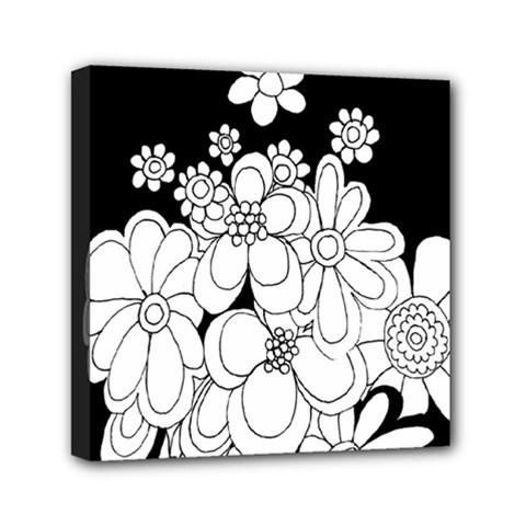 Mandala Calming Coloring Page Mini Canvas 6  X 6  by Nexatart