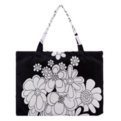 Mandala Calming Coloring Page Medium Tote Bag by Nexatart