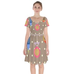 Art Background Background Vector Short Sleeve Bardot Dress