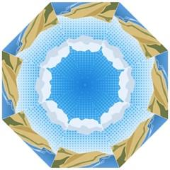 Grid Sky Course Texture Sun Golf Umbrellas by Nexatart