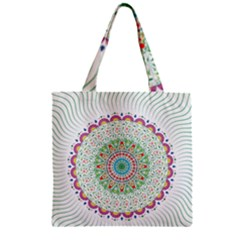 Flower Abstract Floral Zipper Grocery Tote Bag by Nexatart