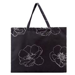 Rose Wild Seamless Pattern Flower Zipper Large Tote Bag by Nexatart